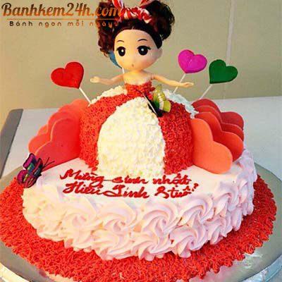 Mẫu bánh sinh nhật sóc trăng dễ thương